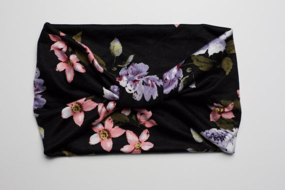SALE Forest Floral - Women's Knit Stretch Headband