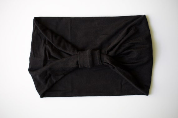 Pitch Black - Women's Knit Stretch Headband
