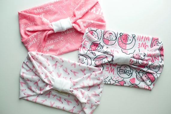 SALE Breast Cancer Awareness Support Bundle - Women's Knit Stretch Modern Jersey Headband