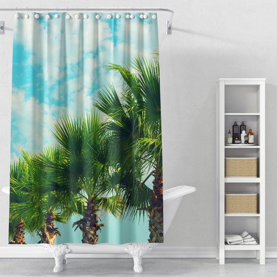 Delicieux Palm Row Shower Curtain Palm Tree Bathroom Decor Palm Tree | Etsy