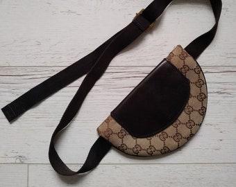 34608ff1aa7 Gucci Women s Bum Bag Waist Bag Canvas Leather Small