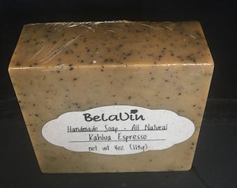 Kahlua Espresso Natural Soap, coffee soap, exfoliating soap