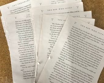 photo about Printable Harry Potter Book Pages known as Jk rowling e book Etsy