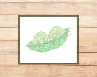 Personalised Peas in a Pod poster print