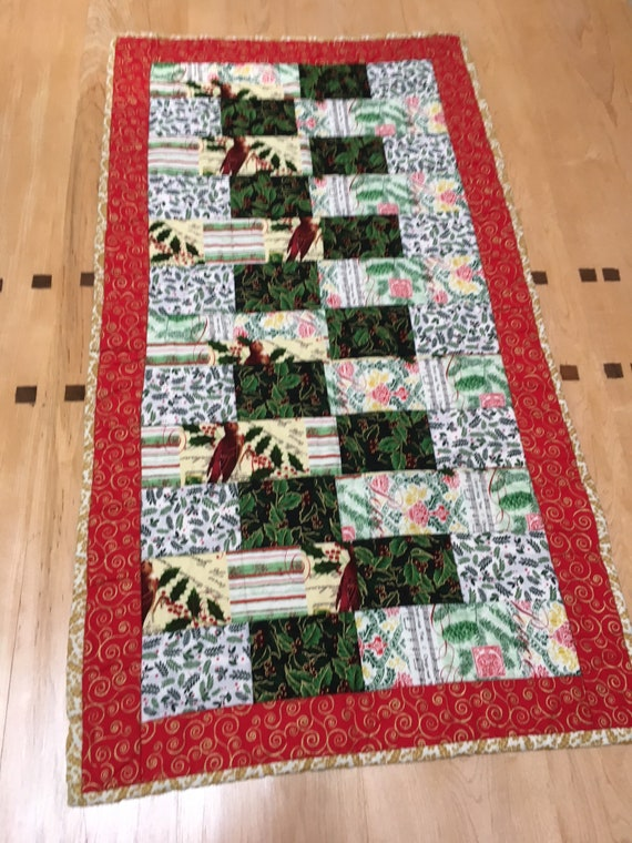 Quilted Holiday Runner Etsy