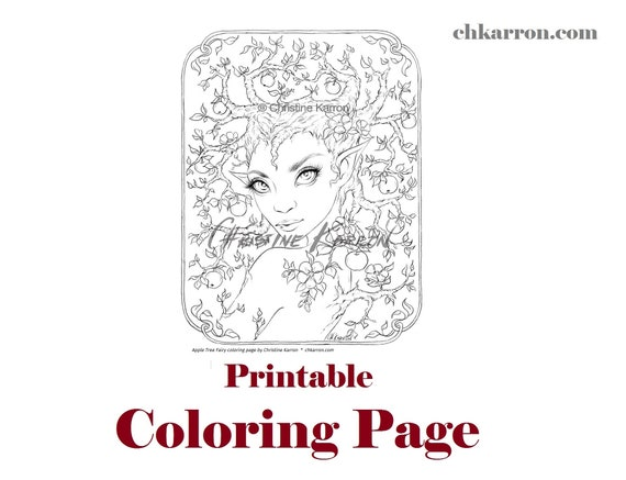 Apple Tree Coloring Page - Get Coloring Pages | 437x570