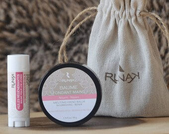 Duo RESTful natural care - hands and lips - lip miracle hands - lip balm natural lip protection