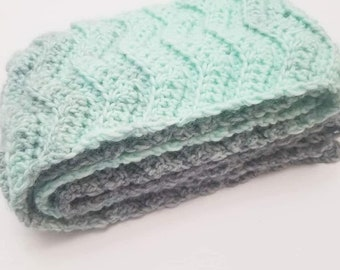 Silver and Mint Scarf
