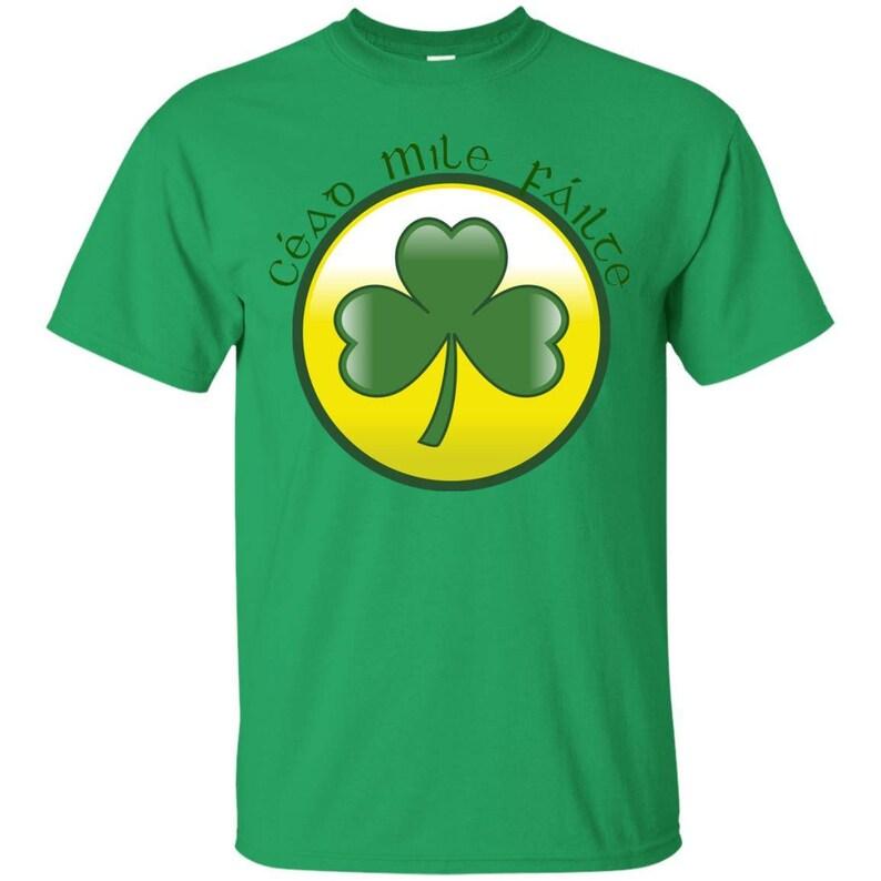 d3078d56 Irish T-shirt Cead Mile Failte Tshirt Graphic Tees Plus Size | Etsy