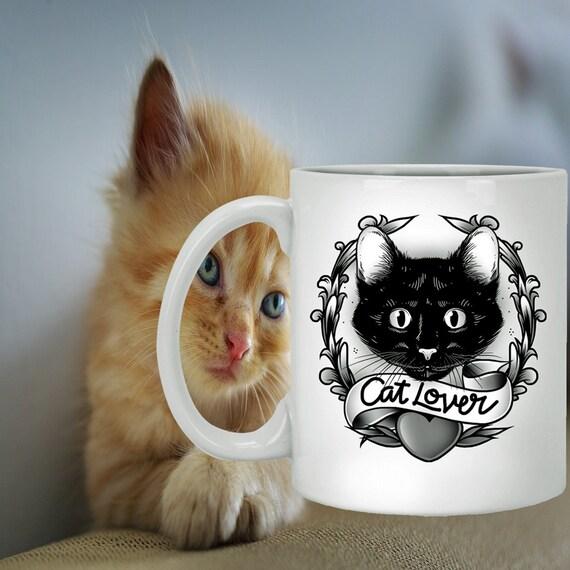 cat mug cat lovers gift cat coffee mug cat lover mug cat etsy