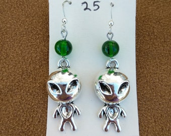 Alien UFO Earrings