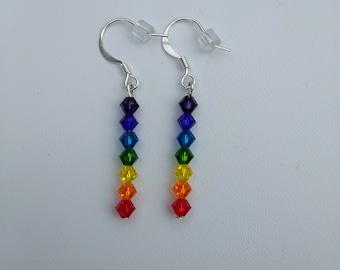 Rainbow Cyrstal Chakra Earrings