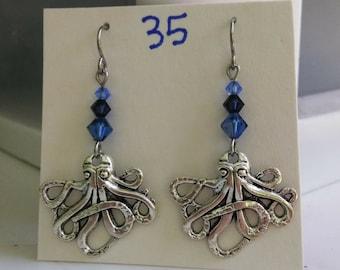Kraken Octopus Squid Earrings