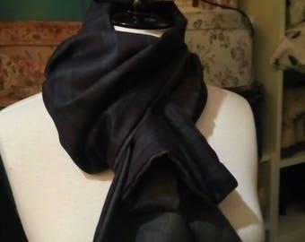 Herringbone/Check Wool Scarf
