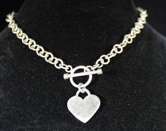 Sterling Silver Heart with 14 inch chain