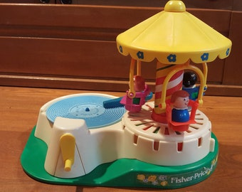 Vintage Fisher Price Little People Change a Tune Carousel - #170