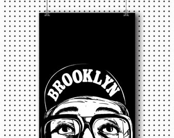 quality design bb38a bbfb7 Spike Lee as Mars Blackmon Poster -