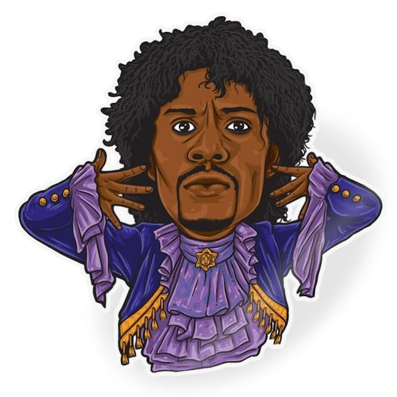 Prince From Chappelle S Show Sticker Game Blouses Tv Caricature Series Dave Chappelle Prince Pancakes Purple Rain Tv Show Funny