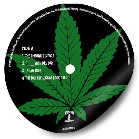 Dr. Dre The Chronic Sticker Hand-Illustrated Vinyl Record