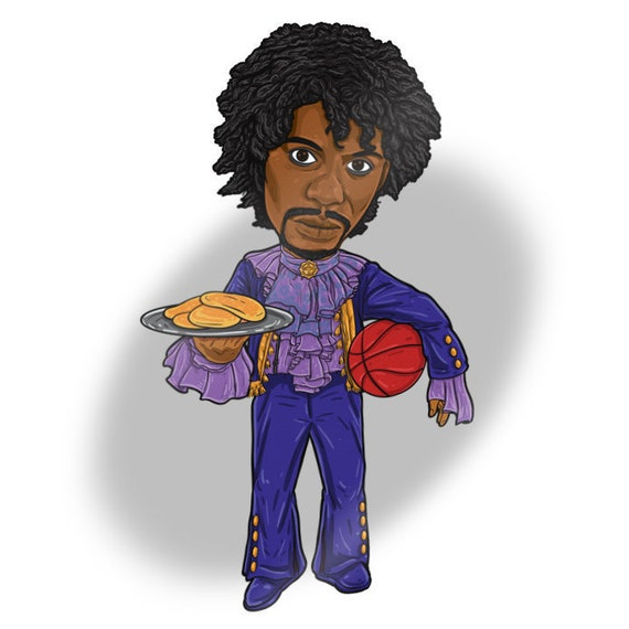 Prince From Chappelle S Show Sticker Pancakes Tv Caricature Series Dave Chappelle Prince Game Blouses Purple Rain Comedy Central