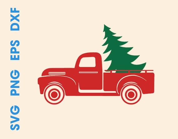 Christmas Truck Svg.Christmas Truck Svg Christmas Truck With Tree Svg Chistmas Truck Png