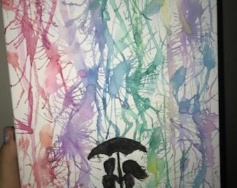Drip Silhouette Painting