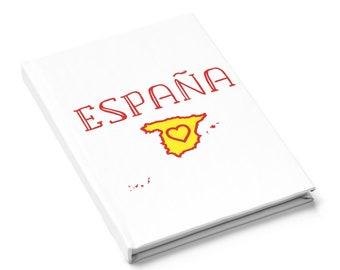 Spain Journal Hardcover 128 Pages Ruled Line, Spain Gift, Diario España, Spain Diary, Hardcover Journal, Regalo España, Spanish Gift