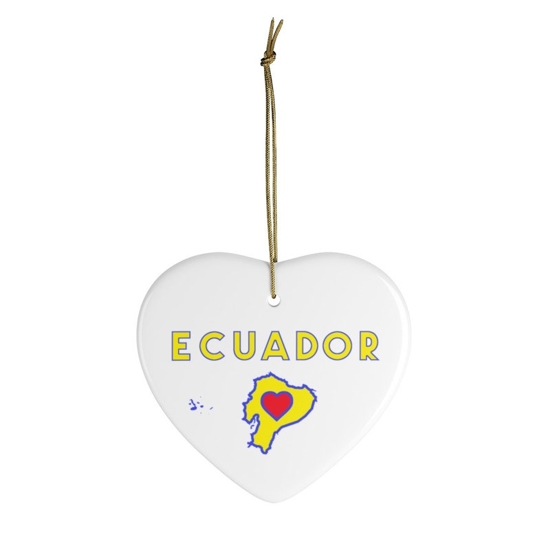Circle or Oval Shape Ecuador Ceramic Ornament Heart