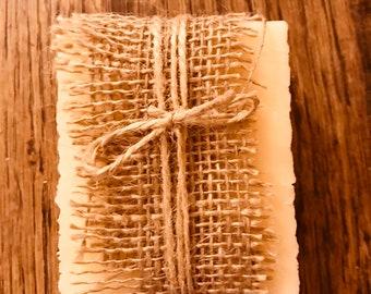 Natural beeswax soap