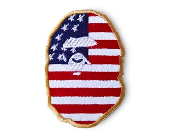 f06940a7a79e Ape Patch American flag collaboration Bape Patch A Bathing Ape Patch Sew On  Embroidered