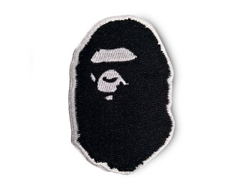 c000e5355fb Ape Patch Bape Patch A Bathing Ape Patch Sew On Embroidered Black and White