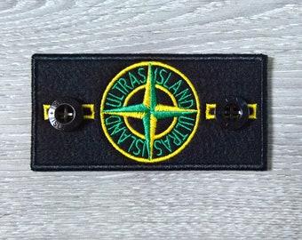 stone island patch logo beanie