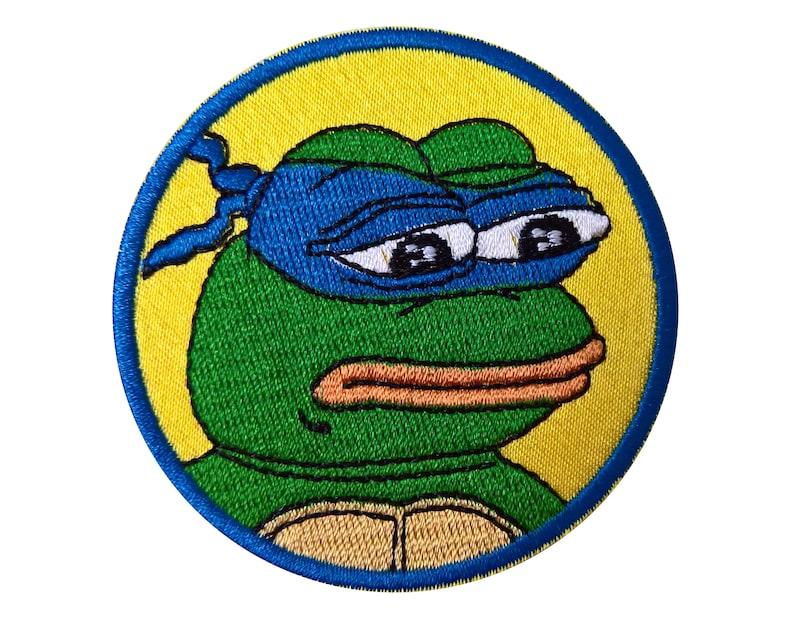 Pepe The Frog Ninja Turtles Leonardo Patch Sew On Embroidered Etsy