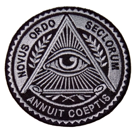1 Day Illuminati Freemasonry Symbols Eye Secret Society Sew On Etsy