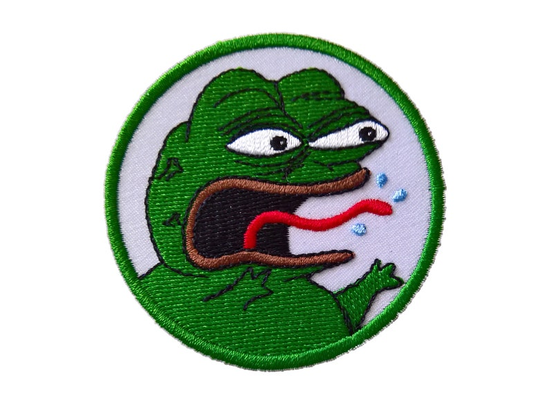 Angry Pepe The Frog Patch Meme Patch Sew On Textile Patch Etsy