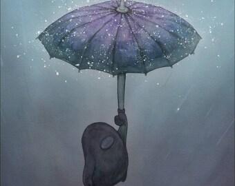 Flying in the Rain, A5 print