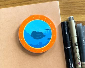 Submarine Notepad | Memo Pad | Stationery Note | Cute Notepad | Penguin Notepad | Penguin Memo | Kawaii Penguin