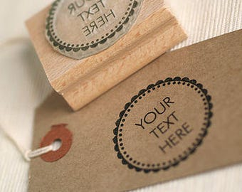 Rubber Stamp with your Custom Text