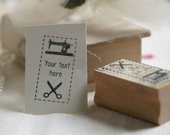 Make Do And Mend Stamp, Sewing machine Design, Perfect for Crafting Projects
