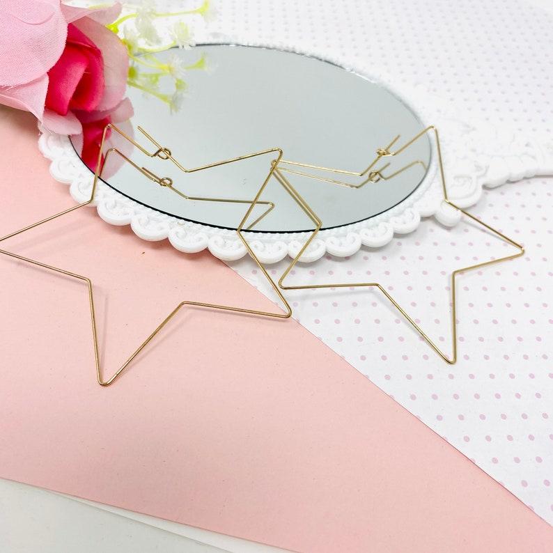 aesthetic earrings Celestial Earrings Star Shape Gold Wire Earrings Gold-filled Star Earrings cool earrings Star design jewelry