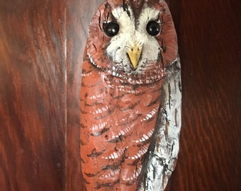Handcarved Driftwood Tawny Owl