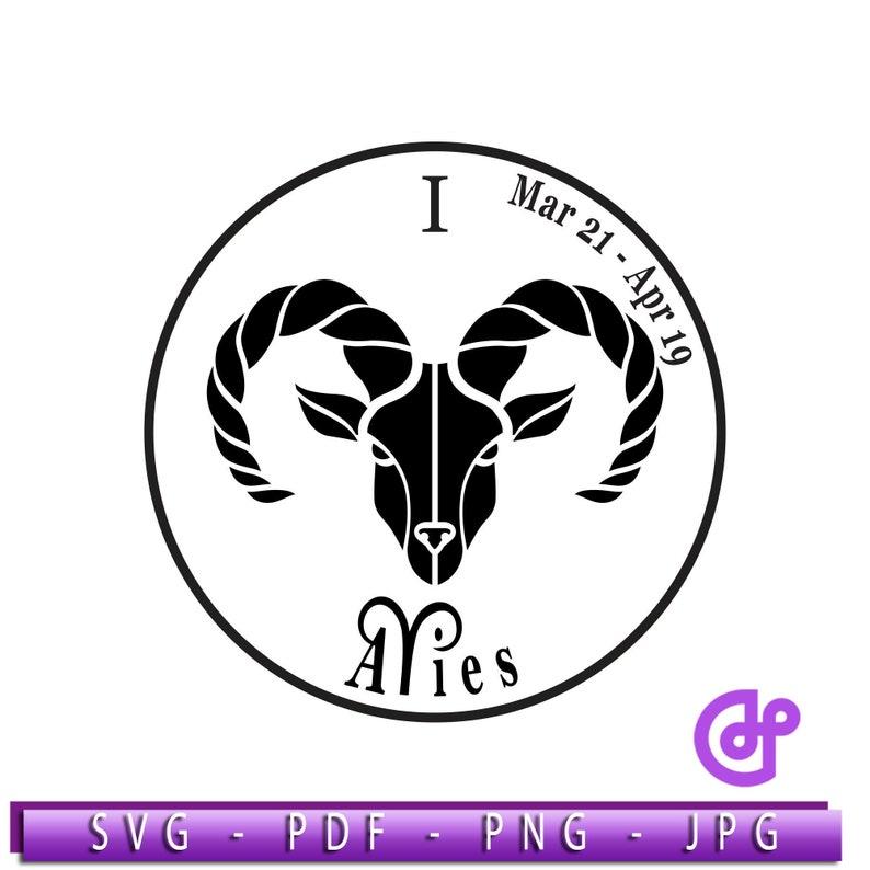 Zodiac Sign Aries Ram Astrology Horoscopes svg pdf jpg png Instant Digital  Clipart Vector Cricut Cut Cutting Download Printable Scrapbook