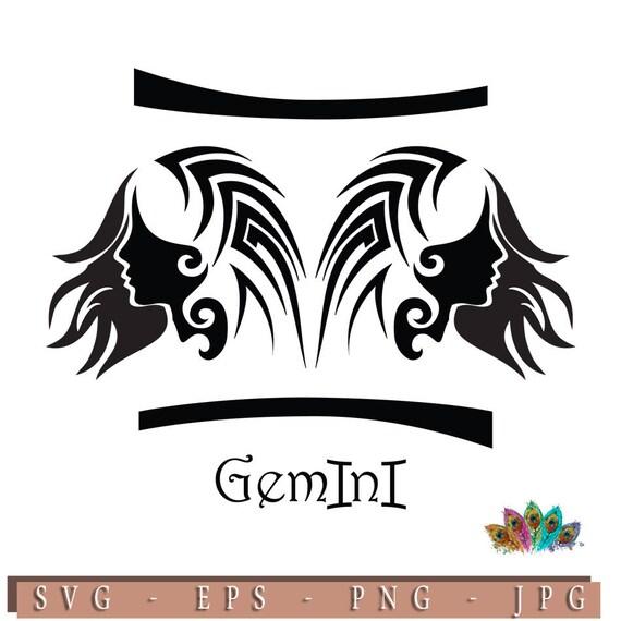 Zodiac Sign Gemini Astrology Horoscopes G Eps G Instant Etsy
