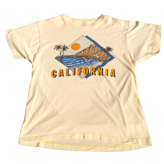 California 1980s Travel Vintage T Shirt Screen Sta