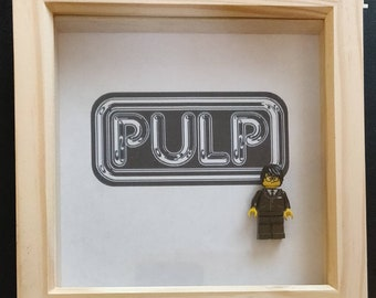Lego inspired Pulp framed art
