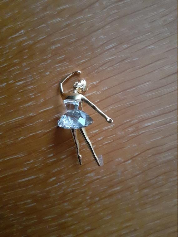SWAROVSKI ballerina brooch