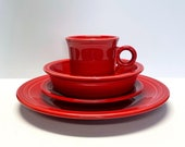 Post 86 Scarlet Red Fiestaware Place Setting