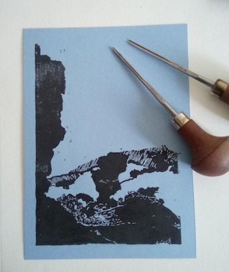 Les Mourres Forcalquier  Linogravure image 0
