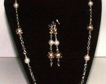 Cultured Pearl and Czech Glass Pearls