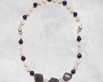 Moonstone Lapis Lazuli and Labradorite Baby Necklace or Bracelets for Mother and Baby